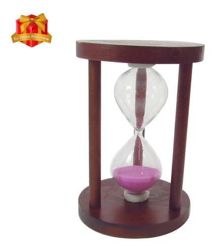 Ampulheta De Madeira 12cm (05 Minutos) - Cores Sortidas