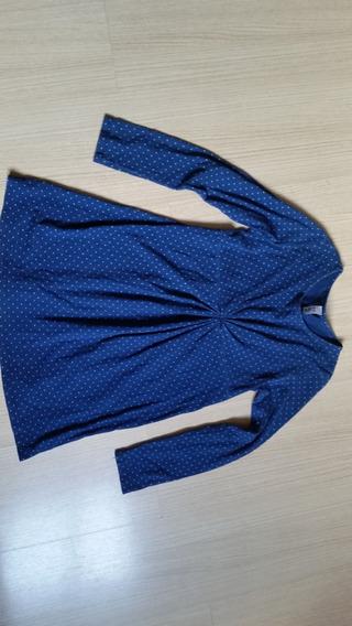 Vestido Infantil Zara Kids Azul Tam. 8 / 5-6 Anos Semi Novo