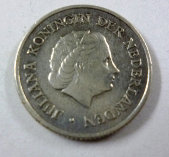 Antillas Holandesas Moneda 1/4 Gulden 1963 Plata Km 4 Vf+