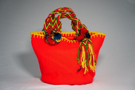 Bolsa Feminina Com Zíper - Artesanato Indígena (peça Única)