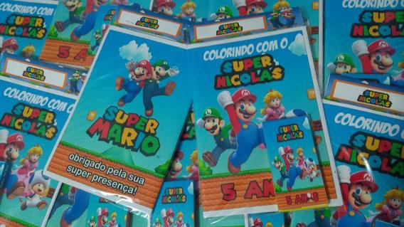 35 Kits Colorir - Livro Personalizado + Giz De Cera + Brinde