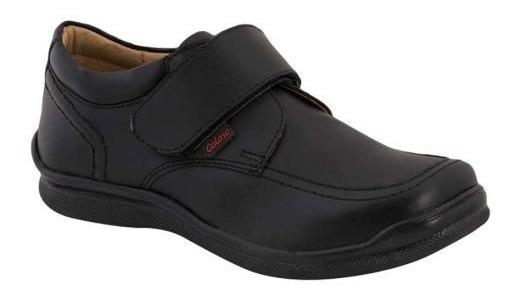 Zapato Casual Coloso 5606 Escolar Piel Napa Negro 179248