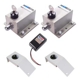 Kit 2 Travas Elétrica Eletromagnética Portão Automático