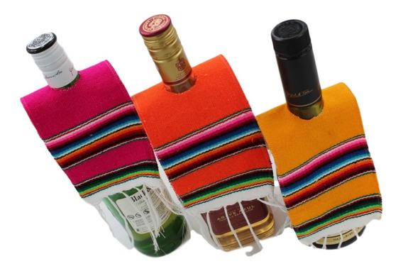 Sarapes Miniatura Para Botella 10x28 Cms (6 Pack)