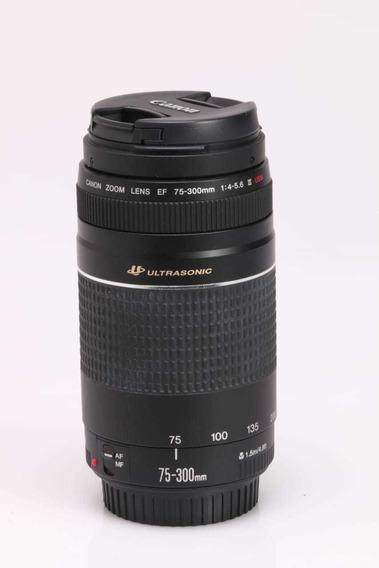 Objetiva Canon 75 300 Ultrasonic (motor De Foco Mais Rápido)