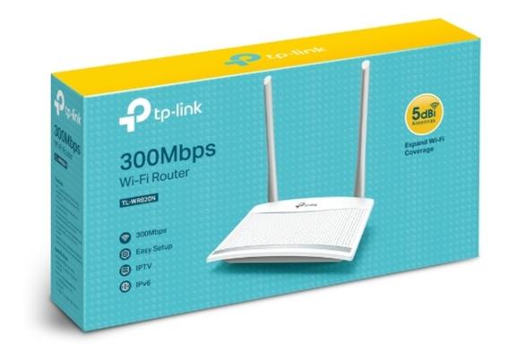 Router Wifi Tplink Dos 2 Antenas 300mbps Modelo Tl-wr820n