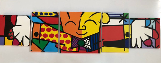 Romero Britto The Hug Quadro Decorativo
