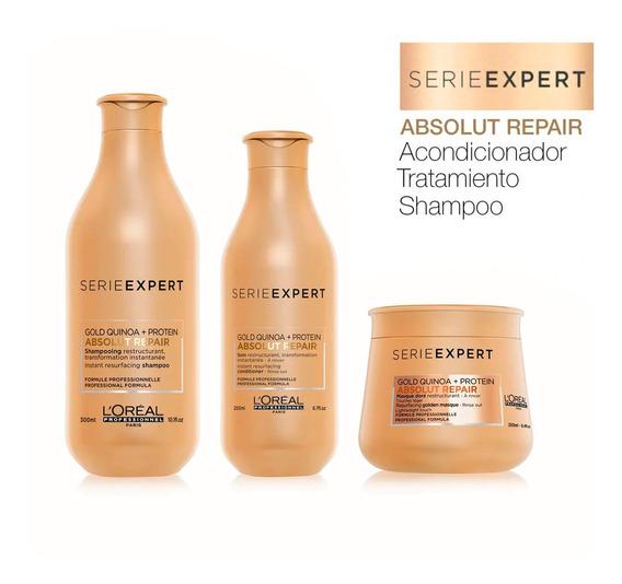 Shampoo+acondicionador+máscara Absolut Repair Loreal Pro