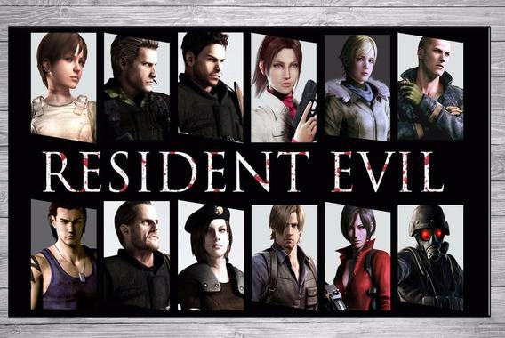 Cuadros Modernos Juegos Gamers Resident Evil 40x57 Cm N4