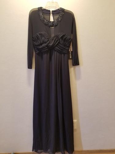 Imagen 1 de 5 de Vestido De Noche Azul Eva Brazzi