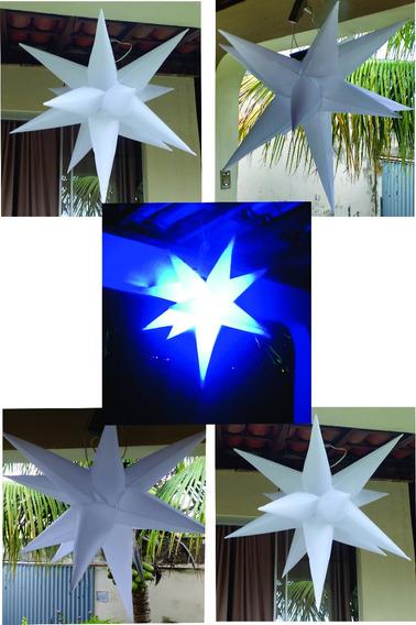 5 Estrelas Infláveis Sputinik,13 Pontas, 80cm Completo