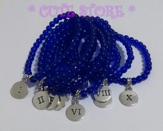 Kit Pulseiras Dez Mandamentos Azul / Branca Pulseira Murano