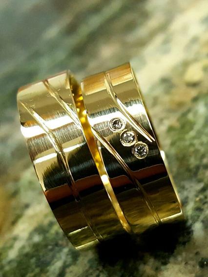 Alianças De Casamento E Noivado Em Ouro