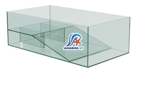 Tortuguero Nacional De Vidrio Con Rampa. 40cm X 17cm X 30cm