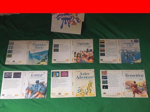 Master System -encarte Original (caixa Recortada)