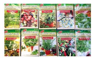 10 Sobres De Semillas Mas De 1000 Semillas Aromatica Huerta