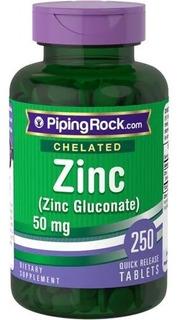 Quelato Zinco 50mg 250caps Antioxidante Saúde Imunológica