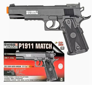 Colt 1911 Airsoft Marker .177 Co2 Swiss Arms
