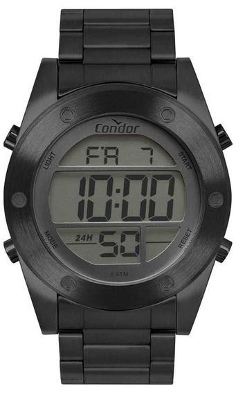 Relógio Condor Masculino Digital Cobj3463ae/4c Preto Aço