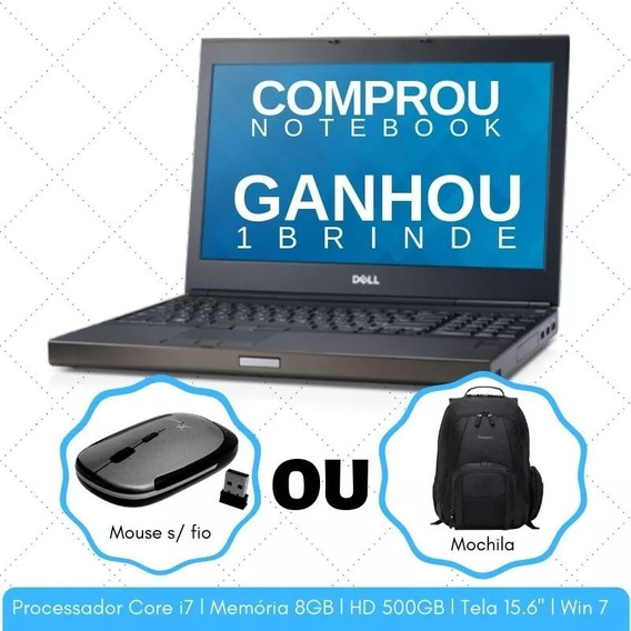 Workstation Notebook Dell M4800 Core I7 8gb Hd500 + Frete