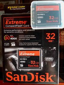 Cartão De Memória Sandisk Cf Extreme 32gb