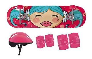 Kit Skate Infantil Com Acessórios De Segurança 40600202 Mor