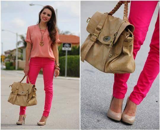 Calça Importada Rosa Pink Lindíssima Stretch