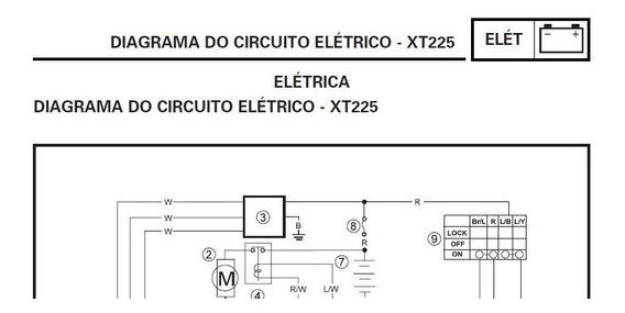 Diagrama/ Esquema Elétrico Da Yamaha Xt 225 1997