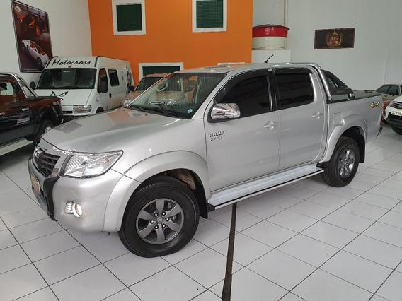 Toyota Hilux Dupla Srv Flex 4x4 Autom 2014 Prata Top Acess