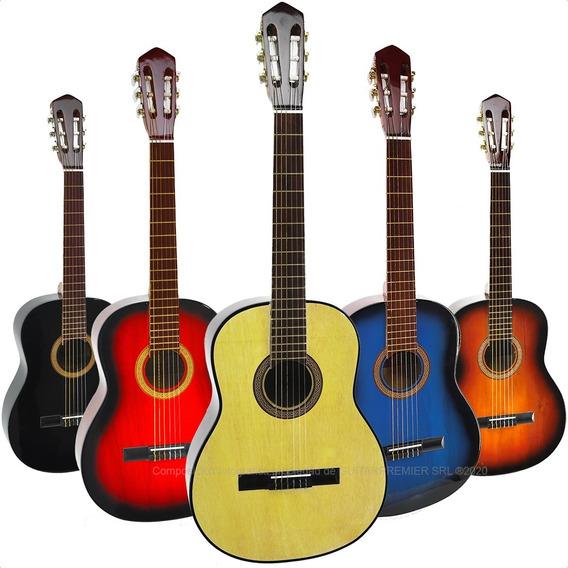 Guitarra Acustica Cuerdas De Nylon Colores Satinada + Funda
