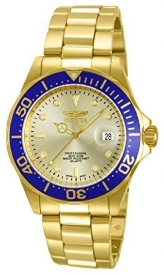 Relógio Invicta 14124 Pro Diver Ouro 18 Dourado Frete Grátis