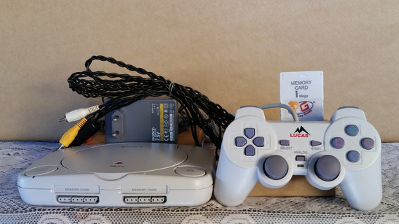Playstation 1 Console Destravado Completo Muitos Jogos Leia
