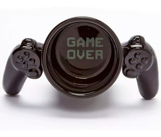 Taza Gamer De Ceramica Control Video Juegos Game Over H1291