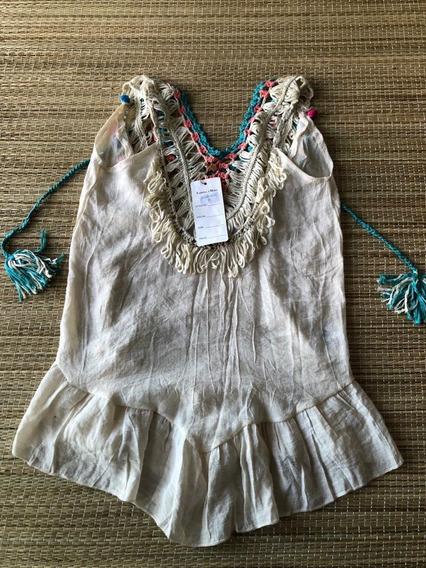 Saida De Banho Vestido Meninas Infantil Original San Mare