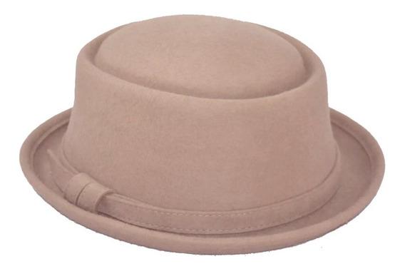 Sombrero Hipster Pork Pie Lana Unisex Super Comodo