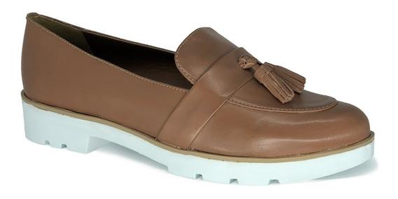 Mocasín De Cuero Con Plataforma - Topshoes Uy