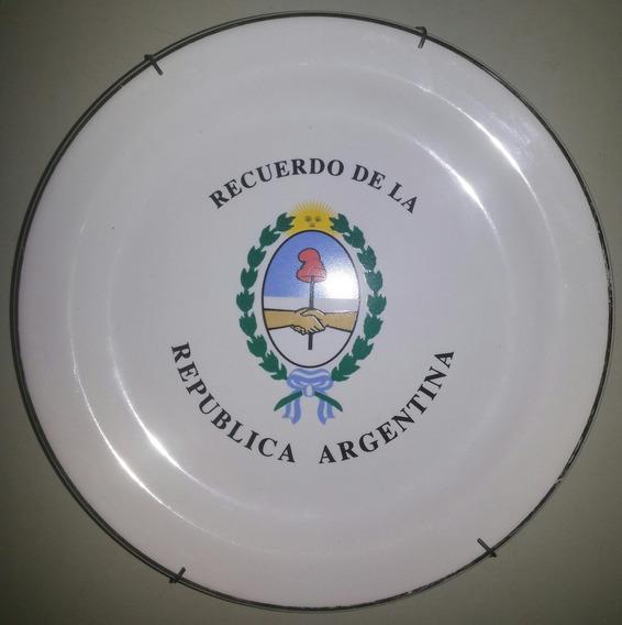 Antiguo Plato De Porcelana Decorativo Olmos Uruguay