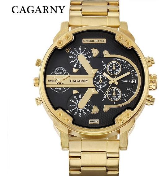 Relógio Dourado Masculino Cargany