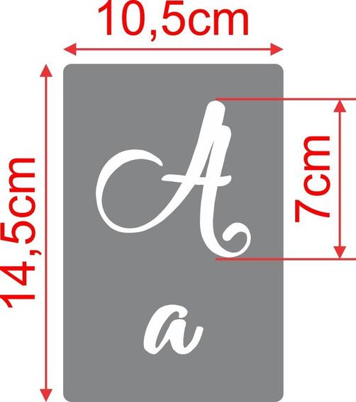 Stencil, Molde Alfabeto Com Letras,números E Símbolos
