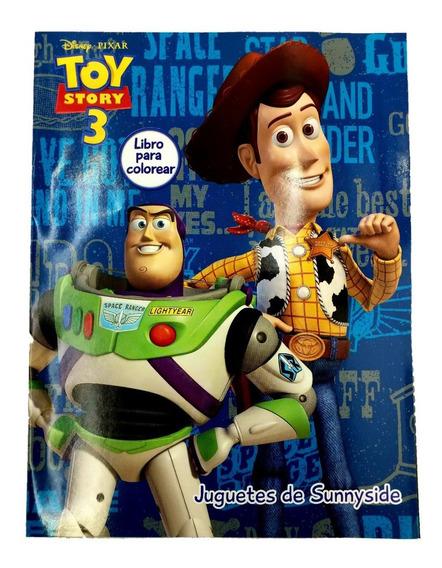 Libro Para Colorear Toy Story 3 Woody Y Buzz 16 Paginas