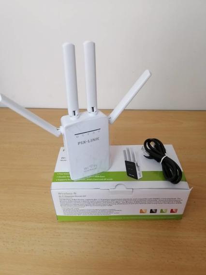 Pix-link Repetidor Router De Señal Wifi 30verdes 25mayor