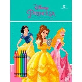 Livro Ler E Colorir Blister Culturama - Princesas Disney