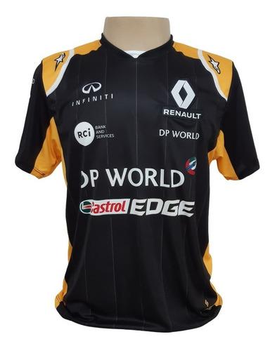 Camiseta Ricciardo Renault - Preta