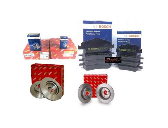 Disco E Pastilha Dianteiro Traseiro Corolla 2011 Trw Bosch