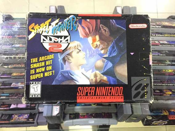 Street Fighter Alpha 2 - Original Super Nintendo Jogo Usado