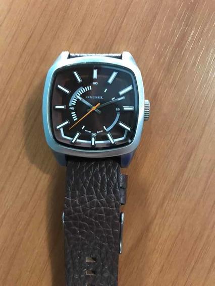 Relógio Diesel Masculino Original-pulseira Couro (dz1528)