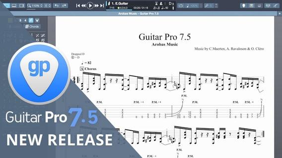 Guitar Pro 7 (7.5) Ativado+soundbanks+150 Mil Tabs - Pt Br