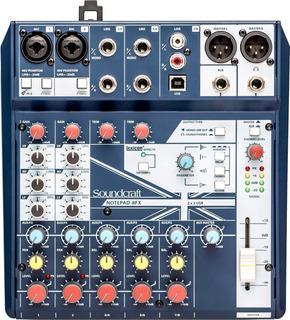 Soundcraft Notepad 8fx Consola Mixer Sonido 8 Canales Efecto