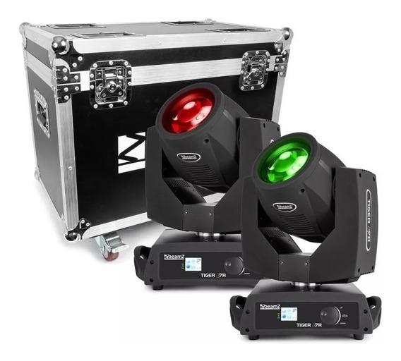Moving Beam 7r 230w Dmx Lâmpada Osram Display Case Duplo Par