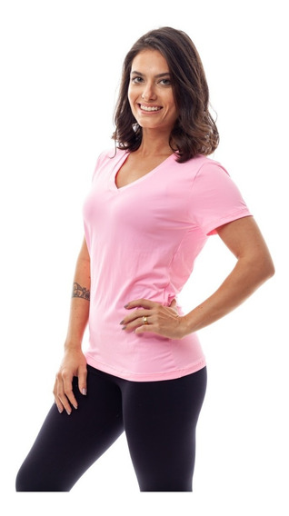 Kit 3 Camisetas Dry Fit 100% Poliamida Fitness Feminina